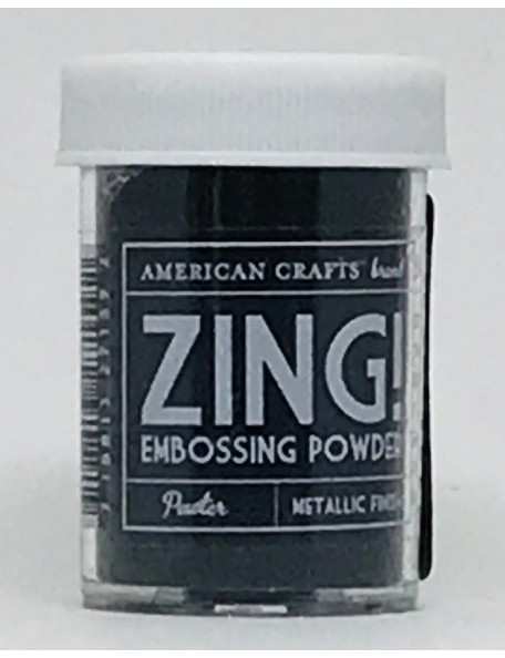 American Crafts Zing! Metallic Embossing Powder 1Oz Pewter