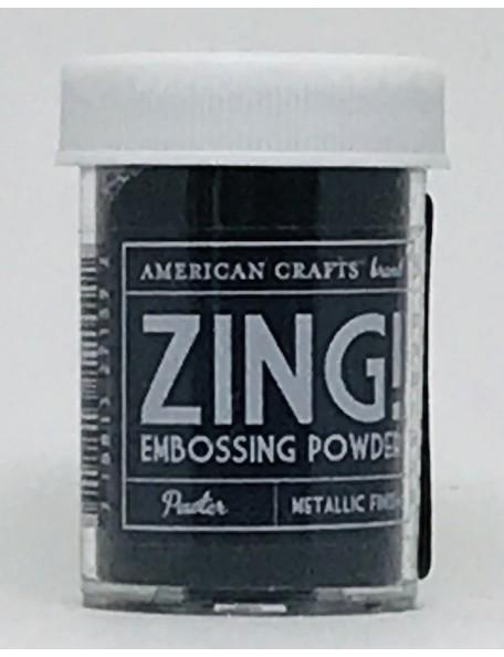 American Crafts Zing! Metallic Embossing Powder 1Oz Pewter