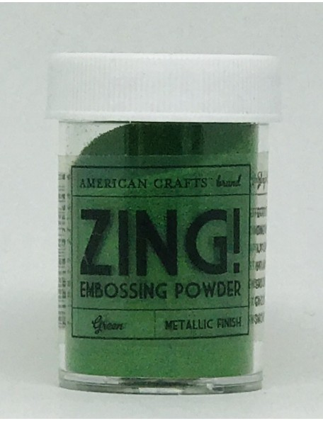 American Crafts Zing! Metallic Embossing Powder 1Oz Green