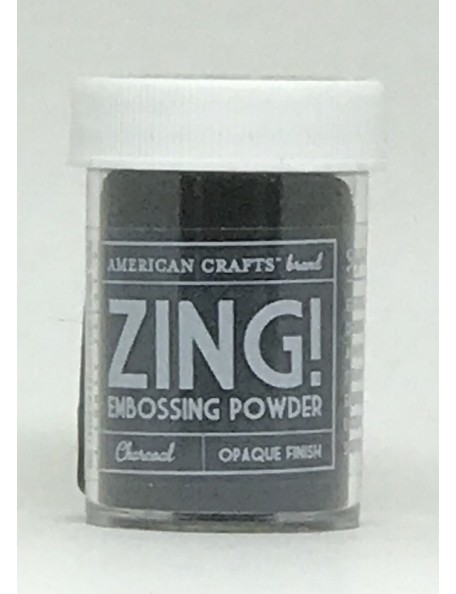 American Crafts Zing! Opaque Embossing Powder 1Oz Charcoal