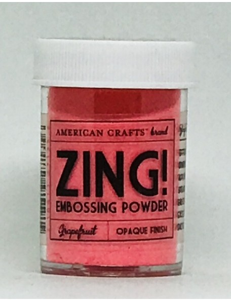 American Crafts Zing! embossing Opaque Finish Grapefruit