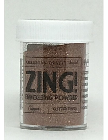 American Crafts Zing! Glitter Embossing Powder 1Oz, Copper