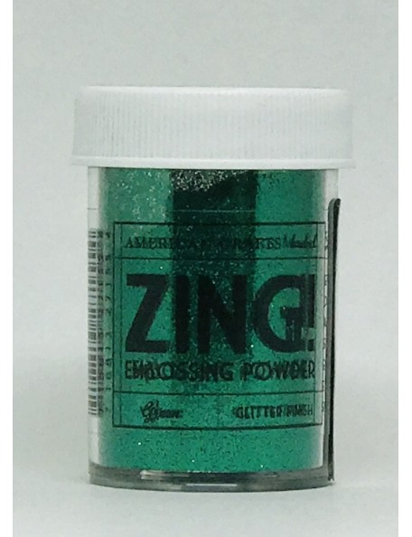 American Crafts Zing! Glitter Embossing Powder 1Oz Green
