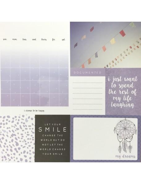 "Papel Lilac - ""My Year My Story"", Kaisercraft."