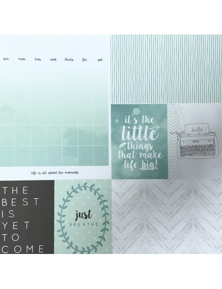 "Kaisercraft - My Year, My Story Cardstock de doble cara 12""X12"", Minty"