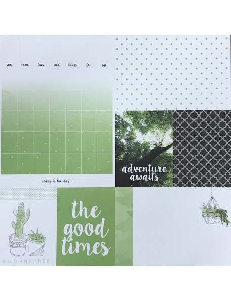 "Cactus Paper - ""My Year, My Story"", Kaisercraft."