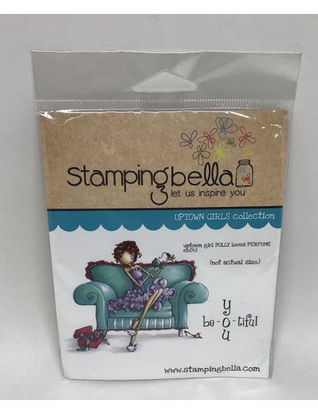 "Stamping Bella Cling Stamp 6.5""X4.5"", Uptown Girl Polly Loves Perfume DESCATALOGADO"