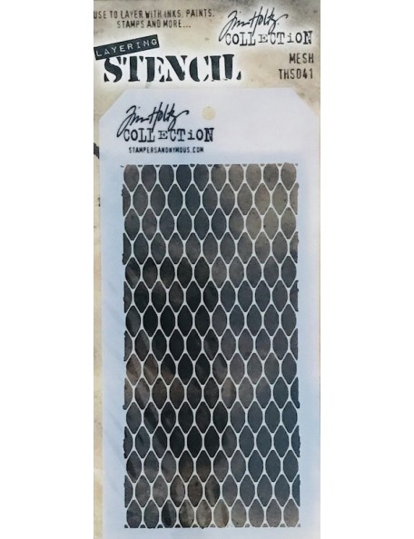 "Tim Holtz plantilla/Layered Stencil 4.125""X8.5"", malla/Mesh ths041"