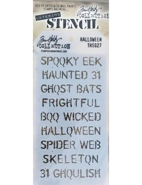 """Tim Holtz plantilla/Layered Stencil 4.125""""X8.5"""", Halloween ths027"""
