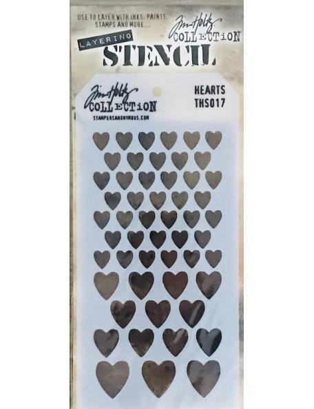 """Tim Holtz plantilla/Layered Stencil 4.125""""X8.5"""", corazones/Hearts ths017"""