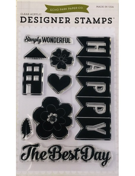 Echo Park Happy Family Stamp Set