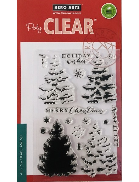 "Hero Arts Clear Stamps 4""X6"", Color Layering Christmas Tree"