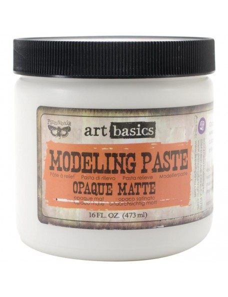 prima marketing Finnabair Art Basics Modeling Paste 16oz, Opaque Matte