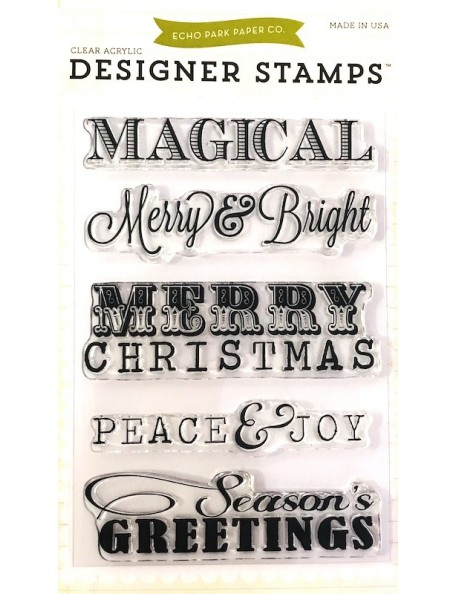 "Echo Park Stamps 4""X6"", Christmas Sentiments"