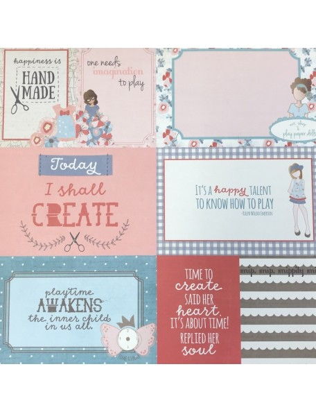 """Photo Play Paper Dolls Cardstock de doble cara 12""""X12"""" By Julie Nutting, Let's Play Dolls Cards"""