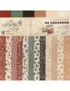 """Graphic 45 St Nicholas basicos Cardstock de doble cara 12""""X12"""", 24 12 Diseños/2 de cada"""