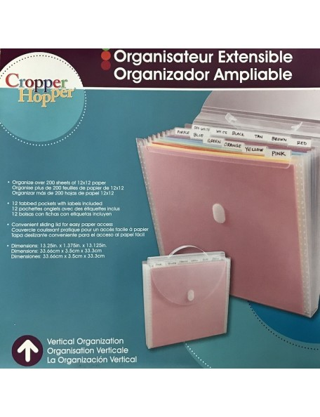 "Storage Studios Organizador de papel expandible/Expandable Paper Organizer, 12""X12"""