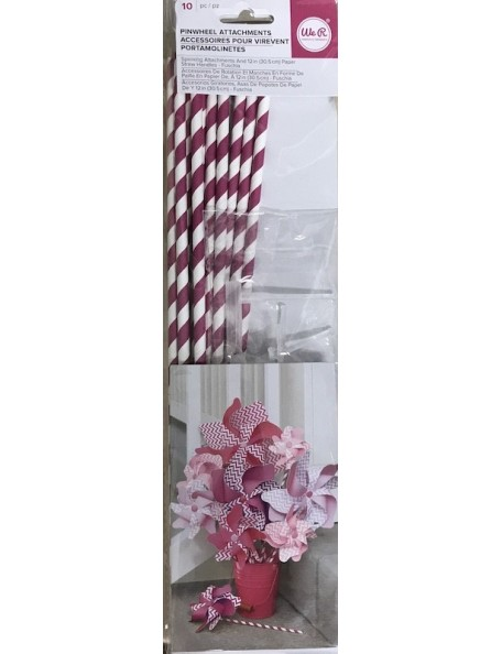 We R Memorie Keepers Pinwheel Attachments Fuchsia