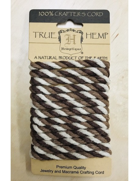 Hemptique Rope 6mm 6.56', cuerda colores tierra/Earthy