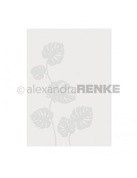 Alexandra Renke Embossing Folder 'Monstera'