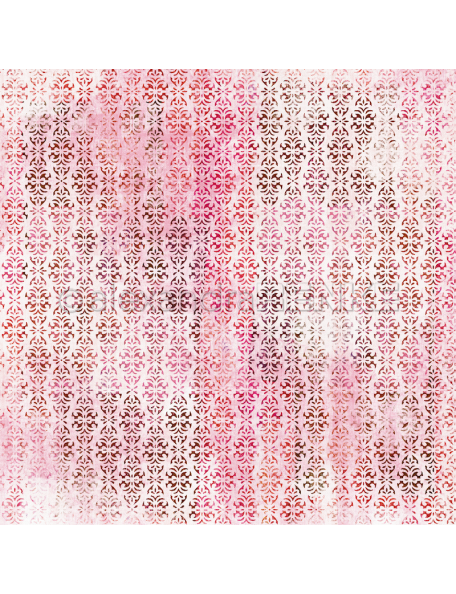 alexandra renke cardstock de una cara 30,5x30,3cm, rosa oreintal/Summerfeeling orientalisch rosa rot