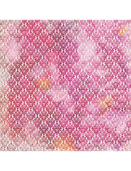alexandra renke cardstock de una cara 30,5x30,5 cm, Summerfeeling orientalisch bordeaux