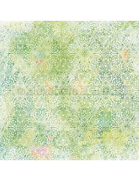 alexandra renke cardstock de una cara 30,5x30,5cm, oriental verde/Summerfeeling orientalisch maigrün