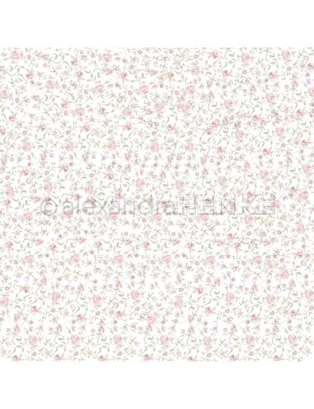 alexandra renke cardstock de una cara 30,5x30,5cm, jardin de rosas/Rosengarten