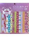 """Photo Play Paper Pad cardstock de doble cara 6""""X6"""" 24, Party Girl, 8 diseños/3 de cada"""