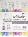 """Prima Marketing Watercolor Coloring Book (24) 8""""X10"""" Frameable Pages"""