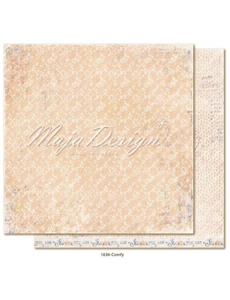 "maja design Denim & Girls Cardstock de doble cara 12""x12"", comfy"