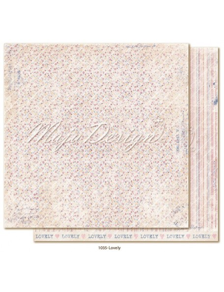 "maja design Denim & Girls Cardstock de doble cara 12""x12"", loverly"