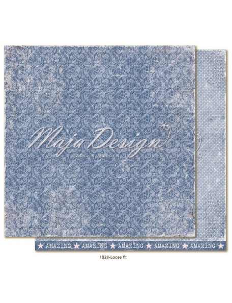 "maja design Denim & Girls Cardstock de doble cara 12""x12"", loose fit"