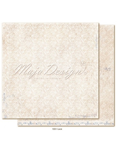 "maja design Denim & Girls Cardstock de doble cara 12""x12"", lace"
