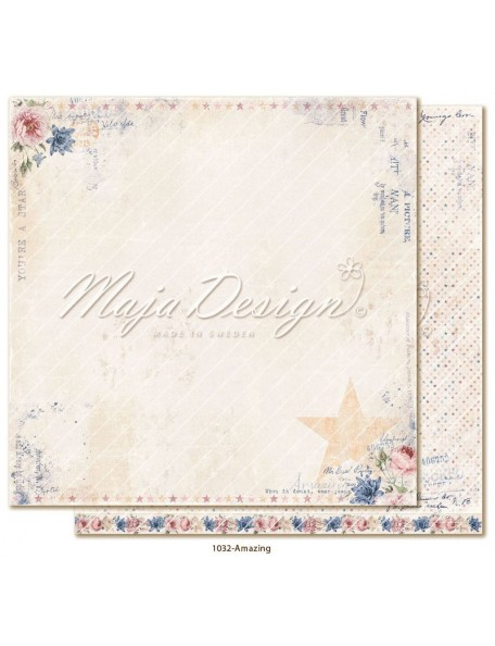 "maja design Denim & Girls Cardstock de doble cara 12""x12"", amazing"