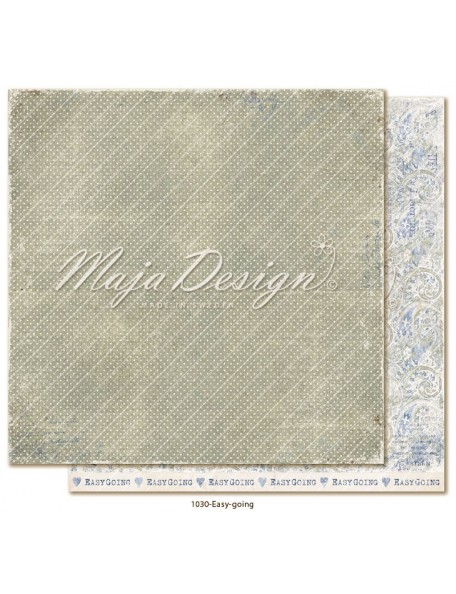 "maja design Denim & Girls Cardstock de doble cara 12""x12"", easy going"