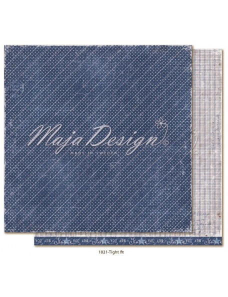 """maja design Denim & Girls Cardstock de doble cara 12""""x12"""", tight fit"""