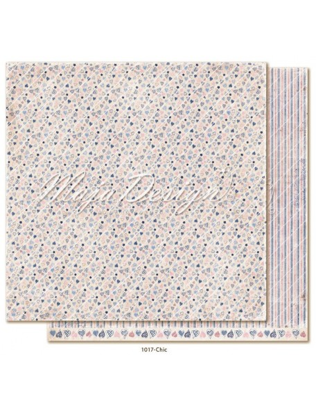 "maja design Denim & Girls Cardstock de doble cara 12""x12"", chic"