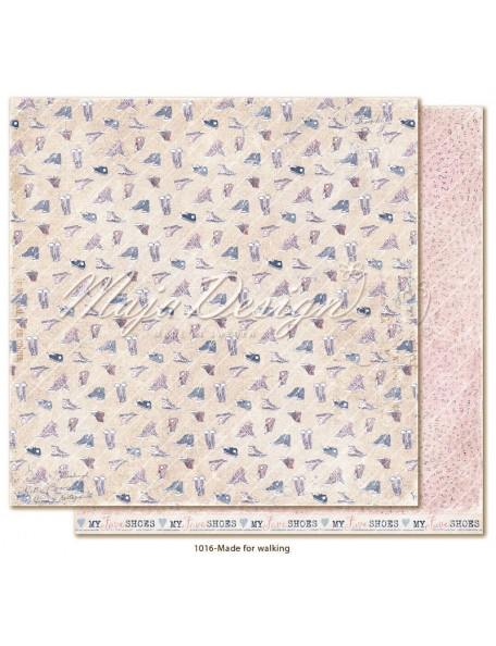 "maja design Denim & Girls Cardstock de doble cara 12""x12"", made for walking"