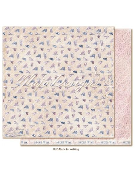 "maja design Denim & Girls Cardstock de doble cara 12""x12"", made for walking"