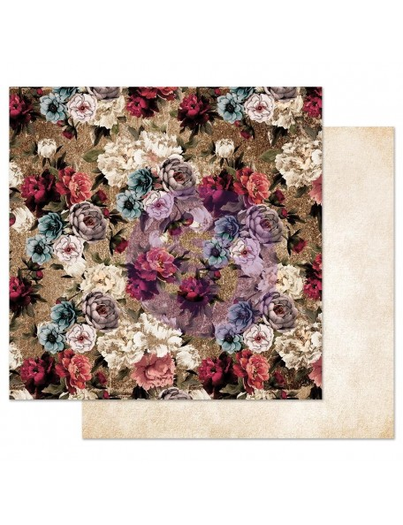 Prima Marketing Midnight Garden Cardstock de doble cara 12X12, More Roses Please