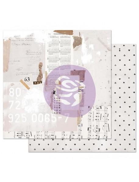Prima Marketing Pretty Pale con Foil Cardstock de doble cara 12X12, Recounting The Days