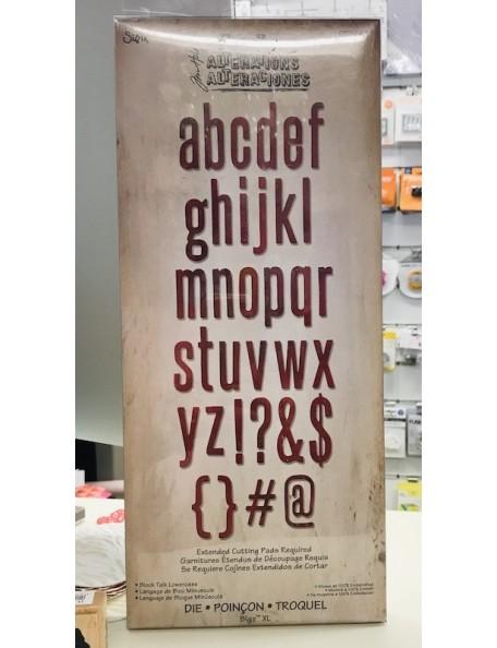 "Tim Holtz Sizzix Bigz XL Troquel 6""X13.75"", ABCdario Minuscula Block Talk Lowercase Alphabet"