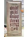 "Sizzix Bigz XL Troquel de Tim Holtz 6""X13.75"", ABCdario Minuscula Block Talk Lowercase Alphabet"