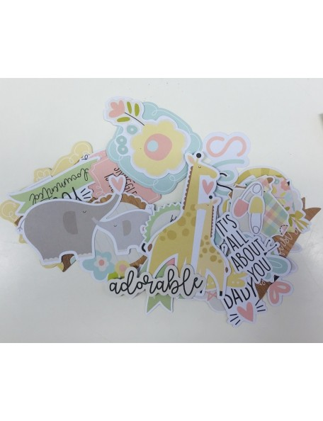 Simple Stories Oh Baby! Decoraciones/Bits & Pieces Recortes/Die-Cuts 51 pzas