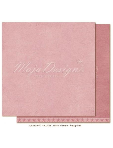 "Maja Design Shades of Denim Cardstock de doble cara 12""X12"", Monochromes Vintage Pink"