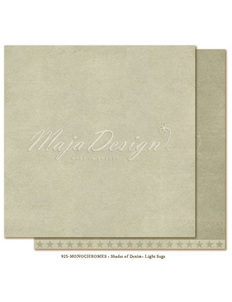 "Maja Design Shades of Denim Cardstock de doble cara 12""X12"", Monochromes Light Sage"