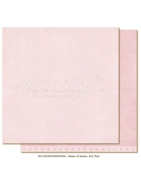 "Maja Design Shades of Denim Cardstock de doble cara 12""X12"", Monochromes Soft Pink"