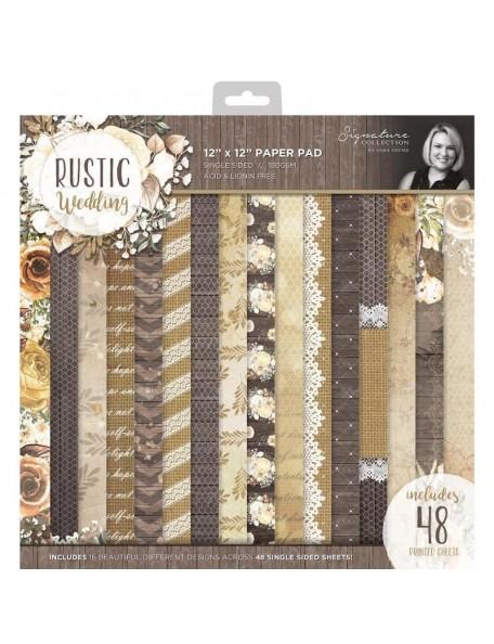 """Crafter's Companion Cardstock de una cara 12""""X12"""" 48 Hojas, Rustic Wedding"""