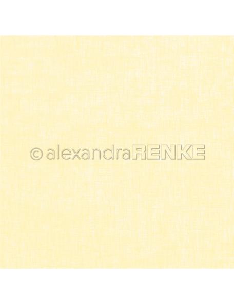 Alexandra Renke Cardstock una cara 30,5x30,5 cm, Lino color Limon/Leinen zitronengelb